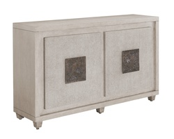 Eclipse Credenza shown with:Malt finishMalt finish on the door faces with weave textureBronzed Brass Hardware