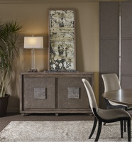 Eclipse Credenza shown with:Pumice finishPumice finish on the door faces with weave textureAntique Matte Nickel Hardware