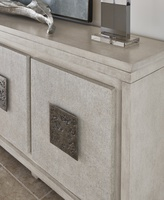 Eclipse Credenza shown with:Malt finishMalt finish on the door faces with weave textureAntique Matte Nickel Hardware