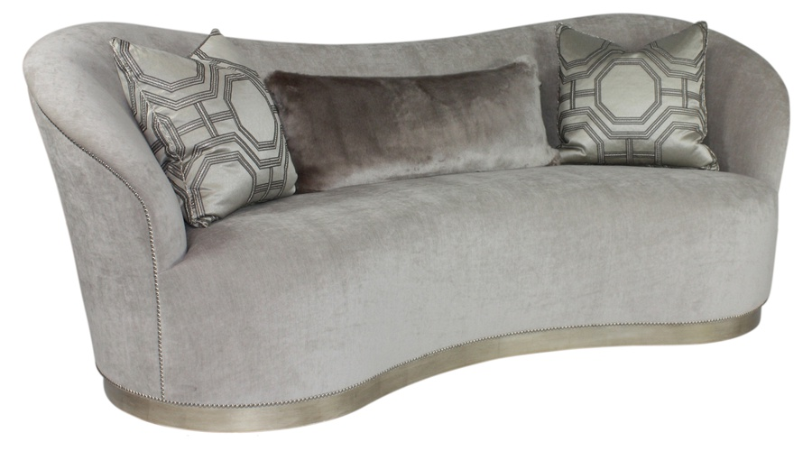 Elle Sofa shown with:Tight seatPlinth Base with Latte finishMini self welt frame trim