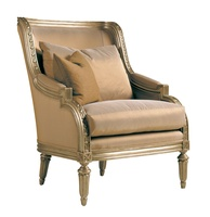 Emperador Lounge Chair shown with:Boxed seat cushionExposed frame available in selection of finishes