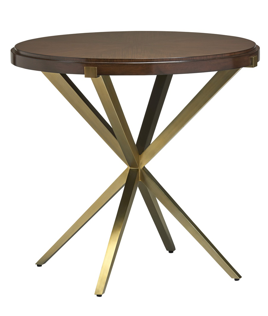 Equinox End Table shown with:Slate finish on topStainless Steel metal legs
