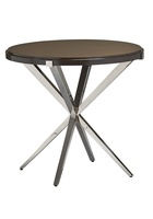 Equinox End Table shown with:Bombay finish on topStainless Steel metal legs