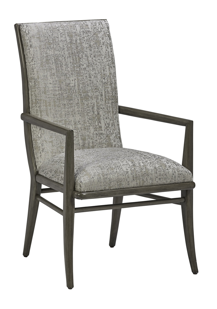 Equinox Arm Chair shown with: Tight seat and back Slate finish