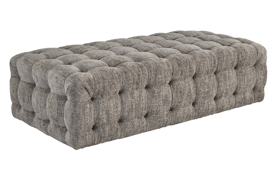 Equinox Cocktail Ottoman shown with:Metal nail button detail Available in a selection of fabrics