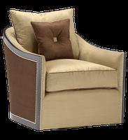 Gatsby Chair shown with:Boxed bench seatBuilt-to-the-floor baseSumatra finishSilver nailhead frame trim