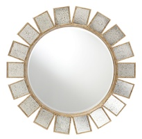 Gramercy Mirror shown with:Burnished Silver FinishClear mirror with Antique mirror tile border