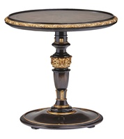 Grand Traditions End Table shown with:Bombay finishVenetian Gold Leaf finish trim