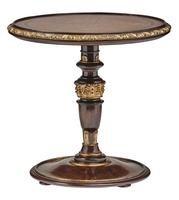 Grand Traditions End Table shown with:Havana finishAged Gold Leaf finish trim