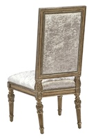 Grand Traditions Side Chair shown with:Bronzed Silver finishVerona Silver Leaf finish trimSilver Star nailhead trim