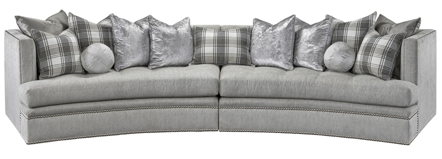Galaxy 2 Piece Sofa Shown With:Boxed Bench Seat With Quilted Button  DetailBuilt