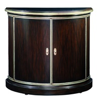 Ionia Nightstand shown with:Bombay finishVersailles Leaf finish trimPolished Absolute Black Granite topMedici Nickel hardware