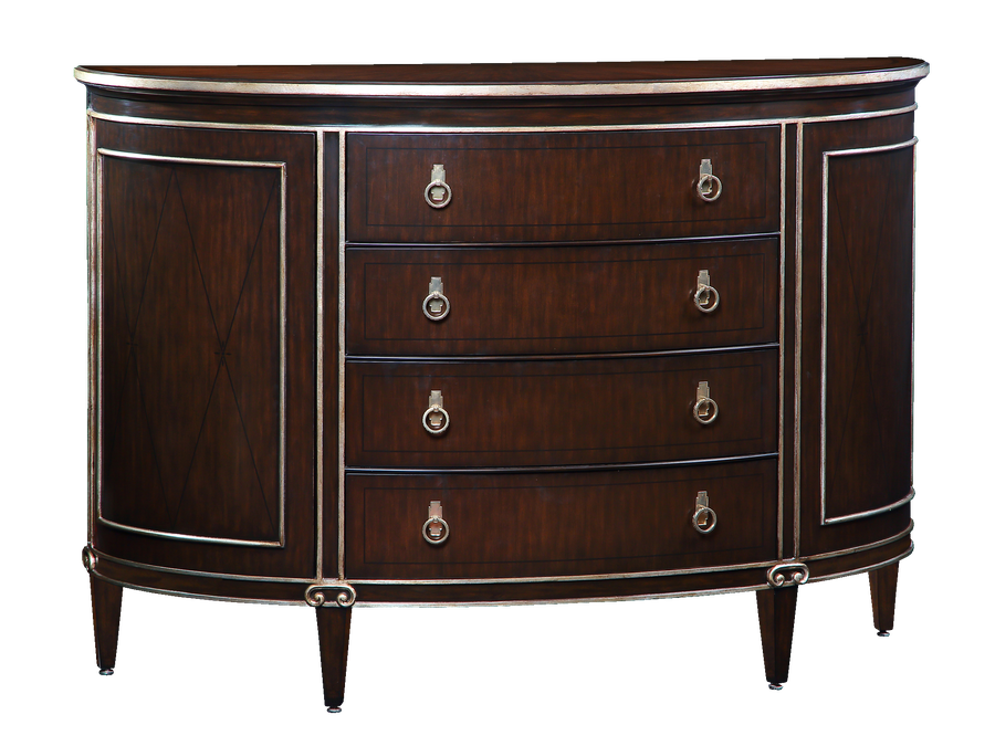 Ionia Dresser shown with:Bombay finishVersailles Leaf finish trimContemporary Havana finish on topMedici Nickel hardware