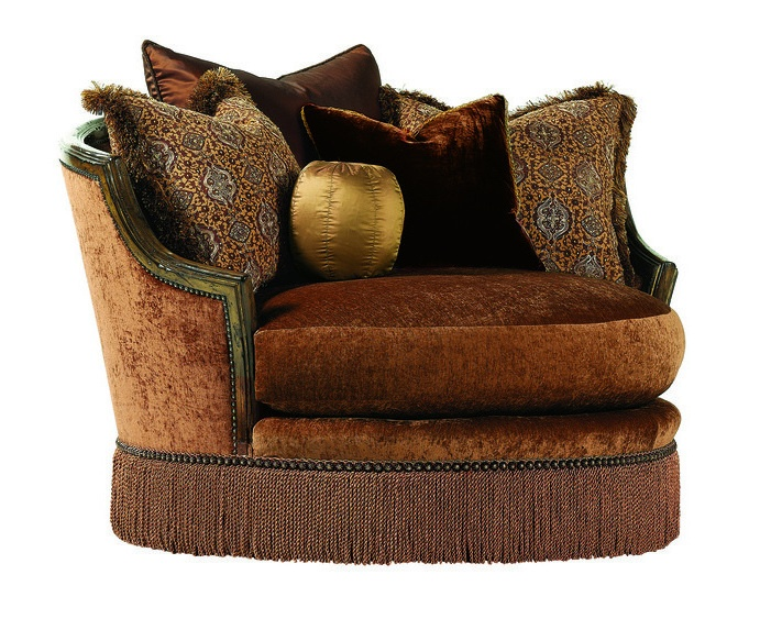 Isadorau0026nbsp;Chair U0026amp; A Half Shown With:Boxedu0026nbsp;bench  SeatBullionBronze Star Naihead