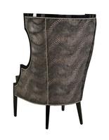 Karma Chair shown with:CaviarfinishGlitteratinailhead frame trim