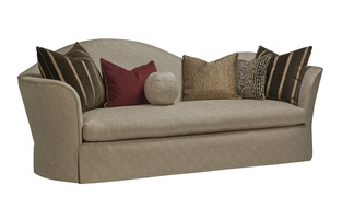 Katarina Sofa shown with:Waterfall skirt with built-in back and sides
