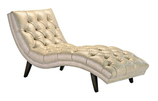 Lexi Chaise shown with:Button tufted seat and backKona finishSilver nailhead frame trim