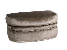 Lana Ottoman shown with:Semi-attached boxed seat cushionBuilt-to-the-floor with castersNailhead frame trim