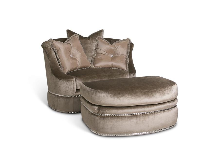 LanaChair and A Half shown with: Boxed seat cushionBuilt-to-the-floorNailhead frame trim