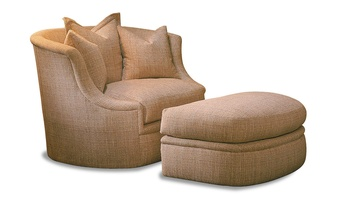 LanaChair and A Half shown with:Lana OttomanBoxed seat cushionBuilt-to-the-floor