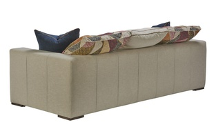 Lynx Sofa shown with:Built-to-the-floor base with wood legs in Saddle finish