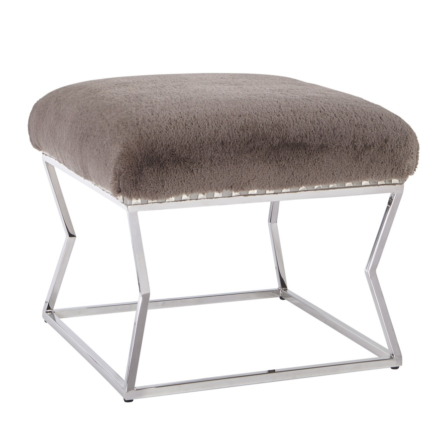 Lotus Bench shown with:Tight seatStainless Steel legsSilver Nile nailhead trim spaced over fabric tape
