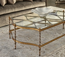Majorca Cocktail Table shown with:Verona Silver finishVenetian Gold finish trim