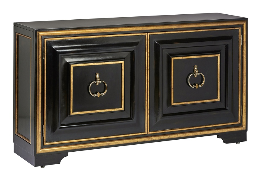 Majorca Credenza shown with:Bronzed Silver finishAntique Nickel transitional hardware