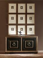 MajorcaCredenzashown with:EbonyfinishVenetian Gold finish trimAntiqueNickel / Antique Brass traditional hardware