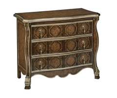 Majorca Chest shown with:Saddle finishSilver Cloud finish trimMedici Nickel / Antique Nickel hardware