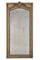 Majorca Floor Mirror shown with:Bronzed Silver finishAntique Mirror