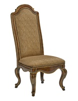 Majorca Side Chair shown with:Briar finishVenetian Gold finish trimMottled Nailhead frame trim