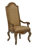 Majorca Arm Chair shown with:Briar finishVenetian Gold finish trimMottled Nailhead frame trim