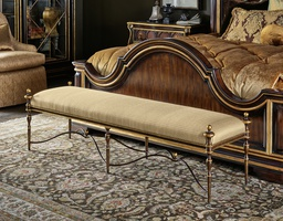 Majorca Bench shown with:Bronze finishAged Venetian Gold finish trim