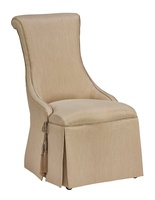 MajorcaSide Chairshown with:Waterfall skirt with dressmaker back and sidesBraidtrimTassel tie trim detail
