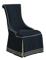 Majorca Side Chair shown with:Waterfall skirt with dressmaker back and sidesBraid trim