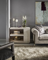 Maison End Table shown with:Ensemble finishCashmere Silver finish on plinth baseEnsemble finish on center block