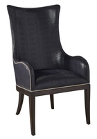 Maison Arm Chair shown with:Bombay finishSilver nailhead frame trim