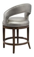 Maison Counter Stool shown with:Contemporary Briar finishGlitterati nailhead frame trimPolished Nickel footrest