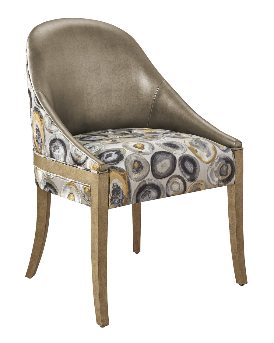 Maison Side Chair shown with:Burnished Silver finish