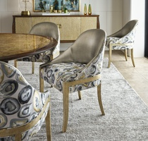 MaisonSide Chair shown with:Burnished Silver finish