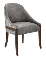 Maison Side Chair shown with:Contemporary Briar finishSamurai nailhead frame trim