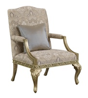 Mayson Chair shown with:Tight seat and backSpecial hand painted decorative motifExposed carved frame in Pompeii finishDeco Silver Leaffinish trim Exposed frame available in selection of finishes and optional finish trims