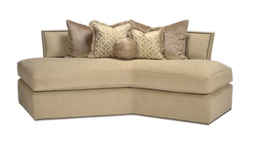 Memphis Sofa shown with: Boxed bench seatBuilt-to-the-floor baseGunmetal nailhead frame trim