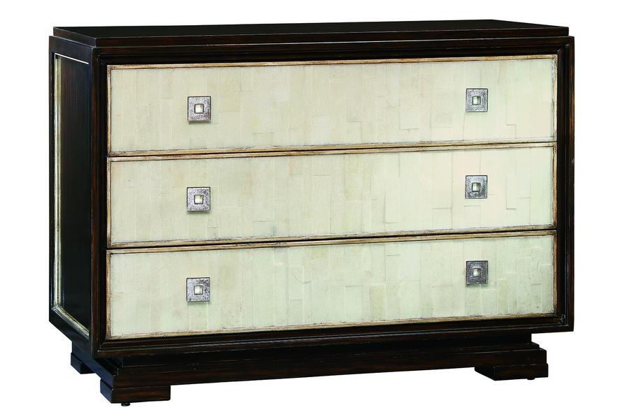 Malibu Nightstandshown with:Contemporary HavanafinishTextured Raven shell drawer facesPolishedNickel hardware