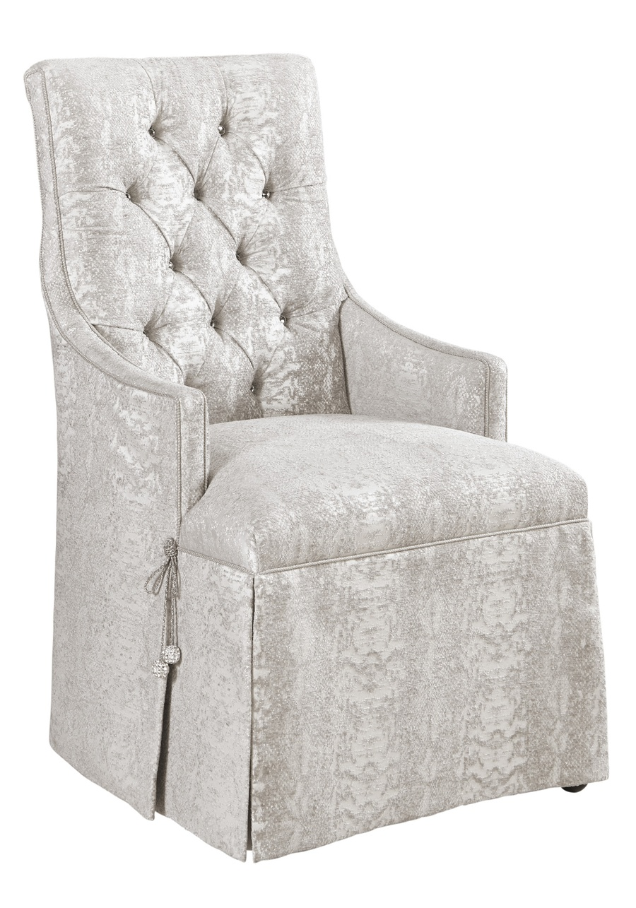 MulhollandSide Chairshown with: Tight seatBrilliance Button tufted backDeep skirt with split back and Beso Button detail Slatefinish