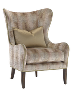 Nelson Chair shown with:Boxed seat cushionHavana finishSamurai nailhead frame trim