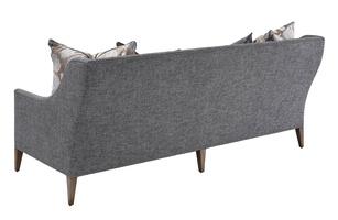 OlindaSofashown with:Built-to-the-floor base with exposed legs in LattefinishGunmetal nailhead frame trim