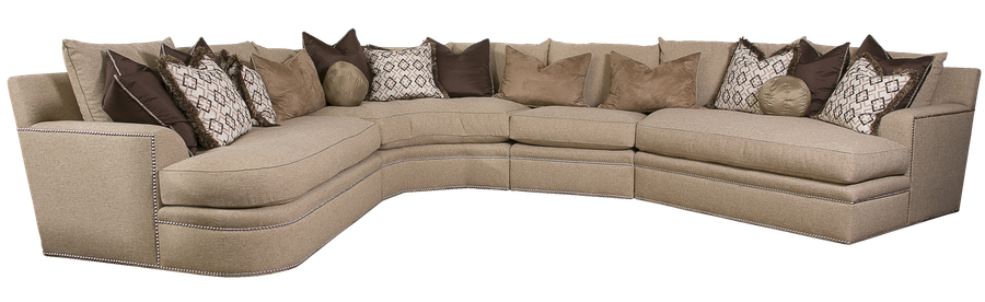 Orion Sectional shown withBuilt-to-the-floor baseSilver nailhead frame trim  sc 1 st  Marge Carson : marge carson bentley sectional - Sectionals, Sofas & Couches