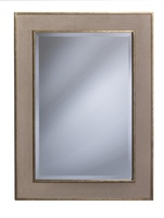 Palo Alto MIrror shown with:Burnished Silver finishFabric panel inset